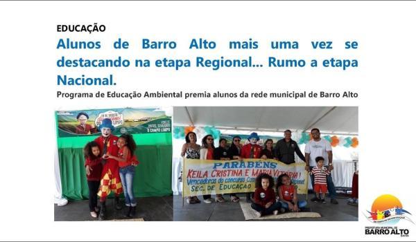Alunos de Barro Alto mais uma vez se destacando na etapa Regional... Rumo a etapa Nacional.