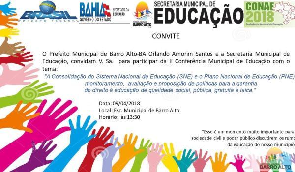 II conferência Municipal de Educação
